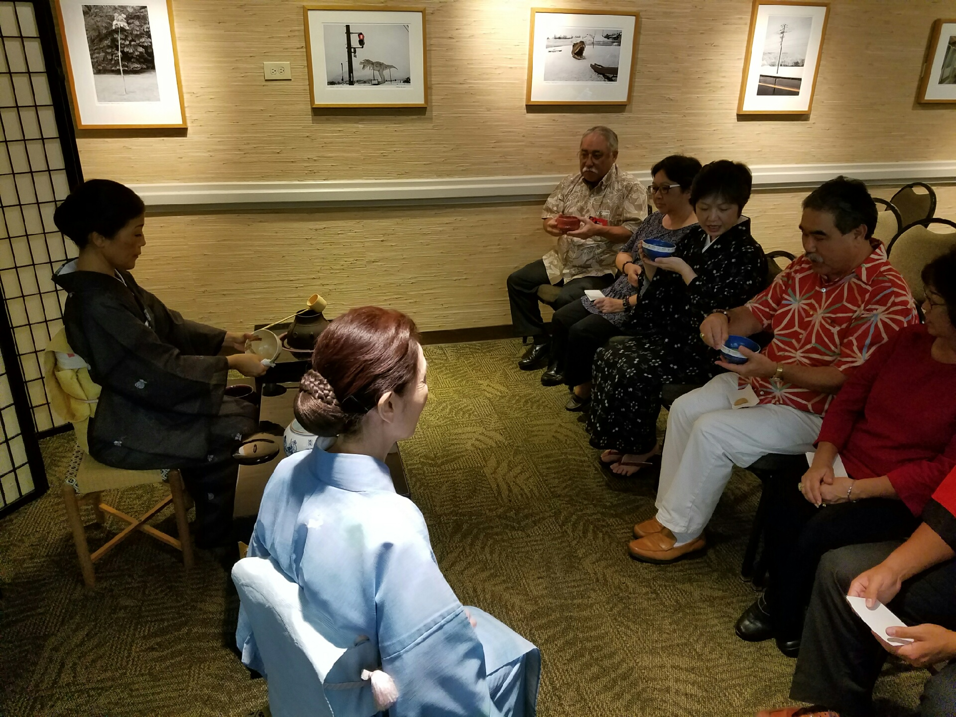 Photo of guests at the UJSH's annual Tsukimi no Kai event