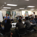 Photo of HAPA — Hawaii Asia Pacific Association, Kamehameha Schools and other native Hawaiian organizations having group discussions