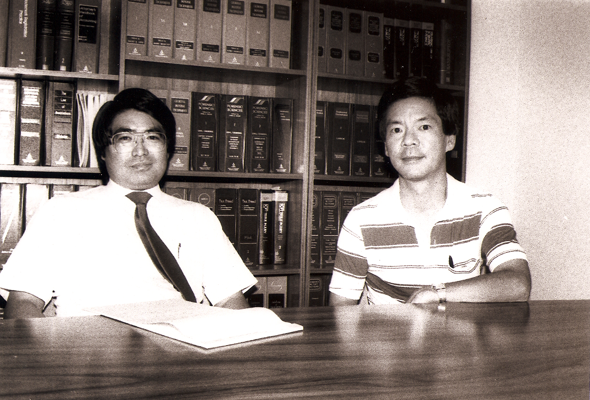 Photo of Clayton Ikei (left) and Steve Okino