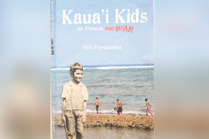"""Image of book cover, """"Kauai Kids in Peace and War"""""""