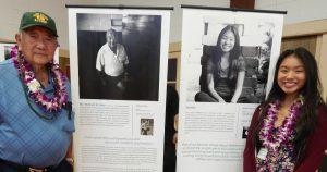 Photo of Kupuna Richard Sato and interviewer Sachiko Maruyama.