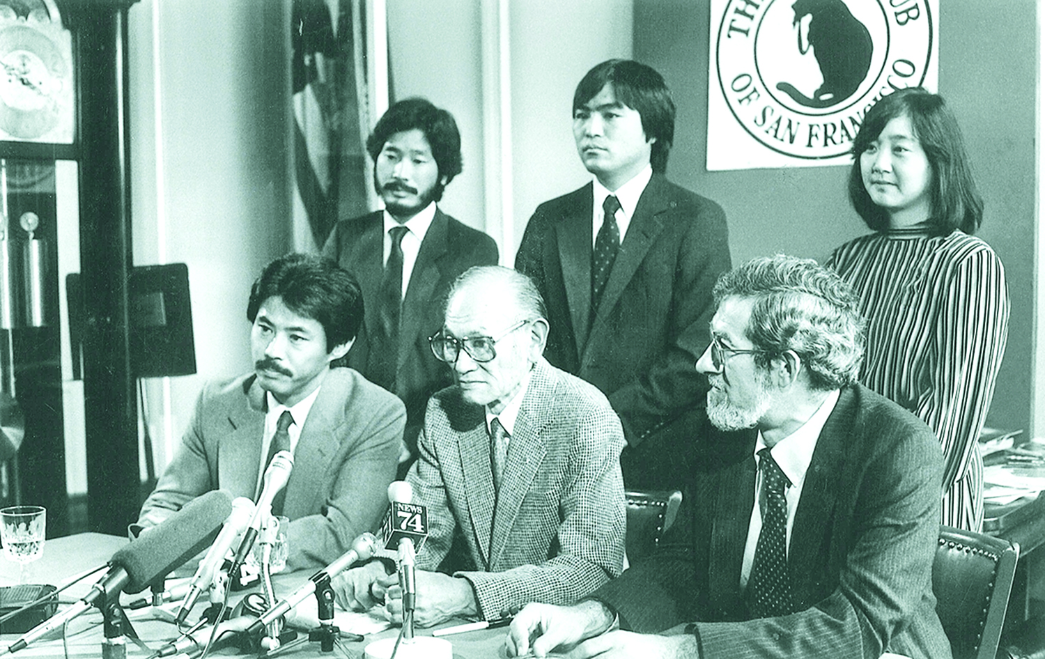 Group photo of some of the members of Fred Korematsu's coram nobis legal team.
