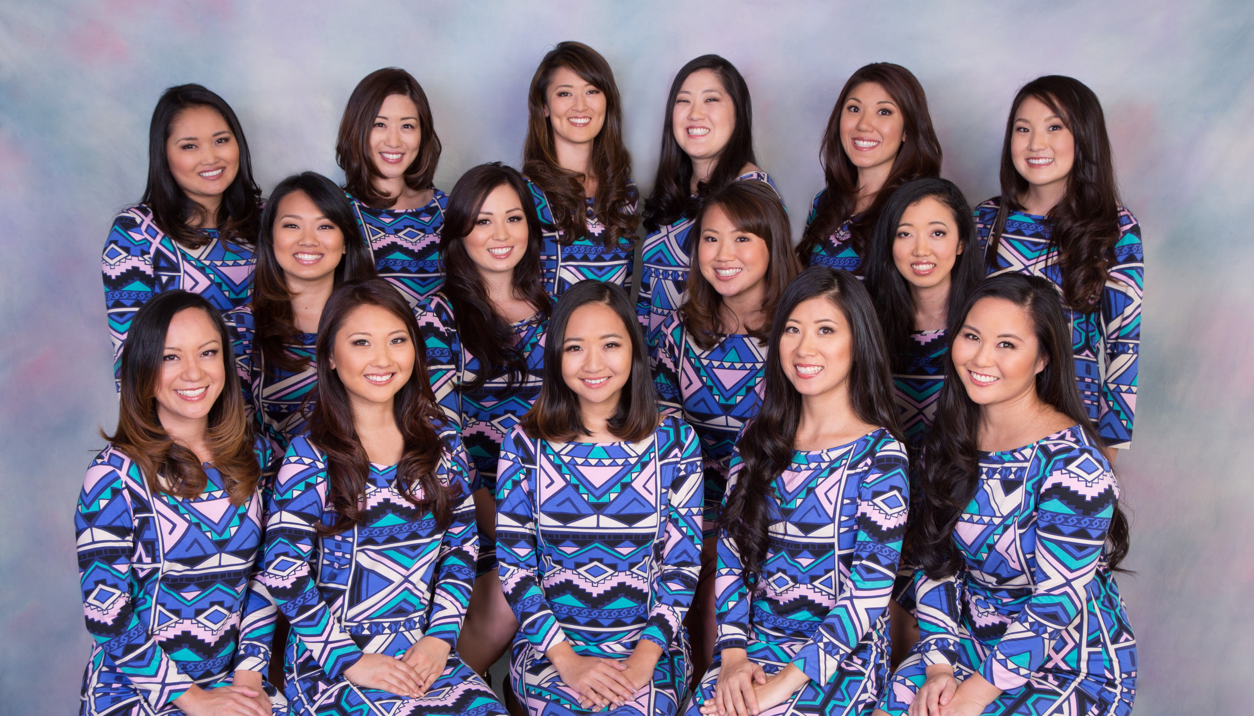 Group photo of the 65th Cherry Blossom Festival queen contestants.
