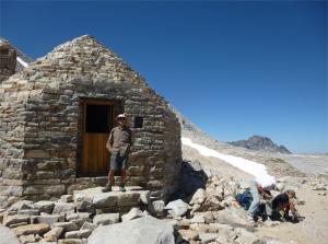 Photo of Keiri Kanbayashi outside the Muir Hut