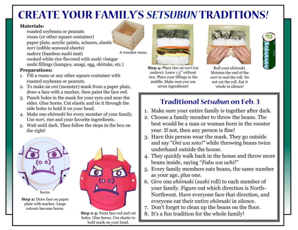 """Culture4Kids! Section, featuring """"How To Create a Setsubun"""""""