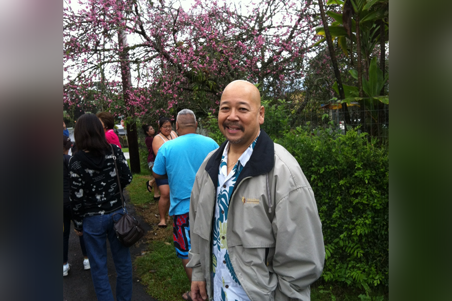 "Photo of City Councilmember Ernie Martin at the 2014 ""Sakura Safari – Hana Mi."" (Photo courtesy Ernie Martin)"