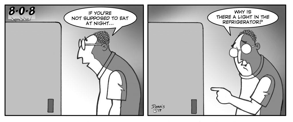 Comic, 808, by Dennis Fujitake, April 7, 2017 Issue