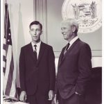 Photo of son, Jim Burns, and father, John A. Burns