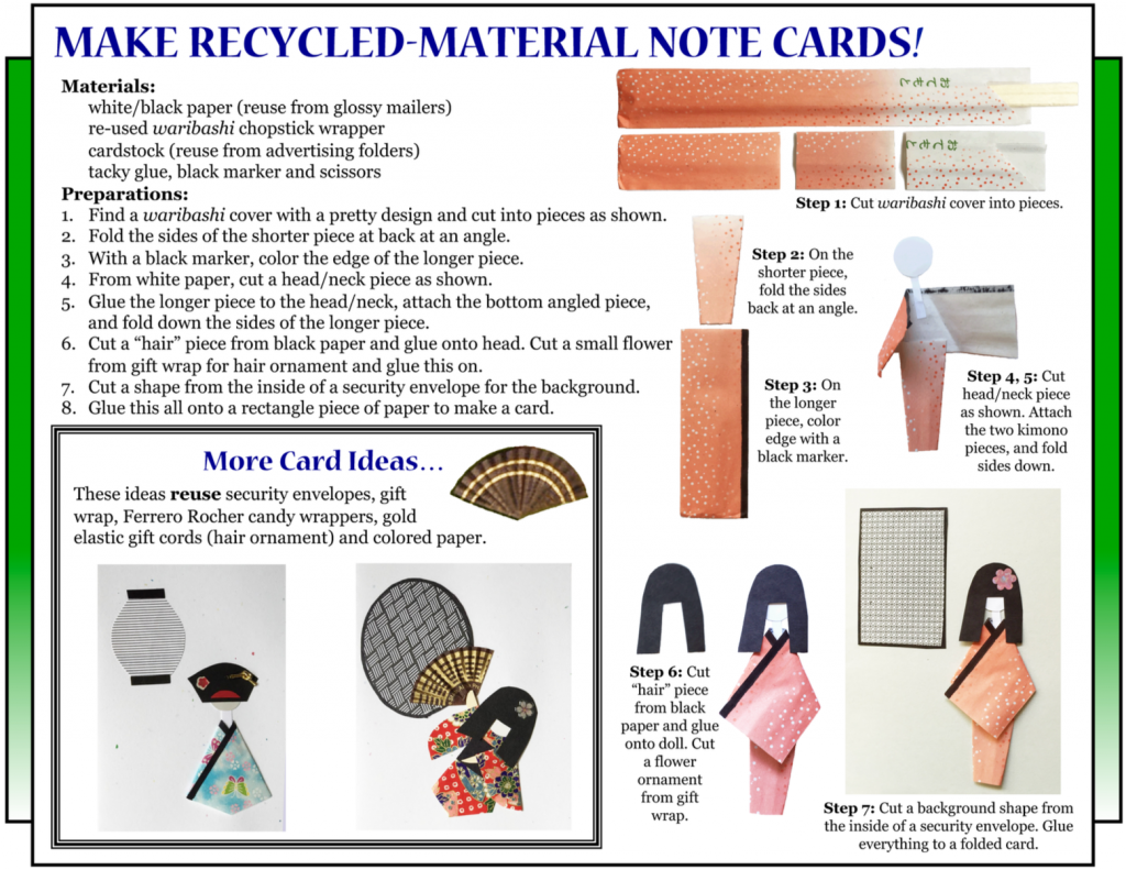 """Culture4Kids! Section, featuring """"Make Recycled-Material Note Cards!"""""""