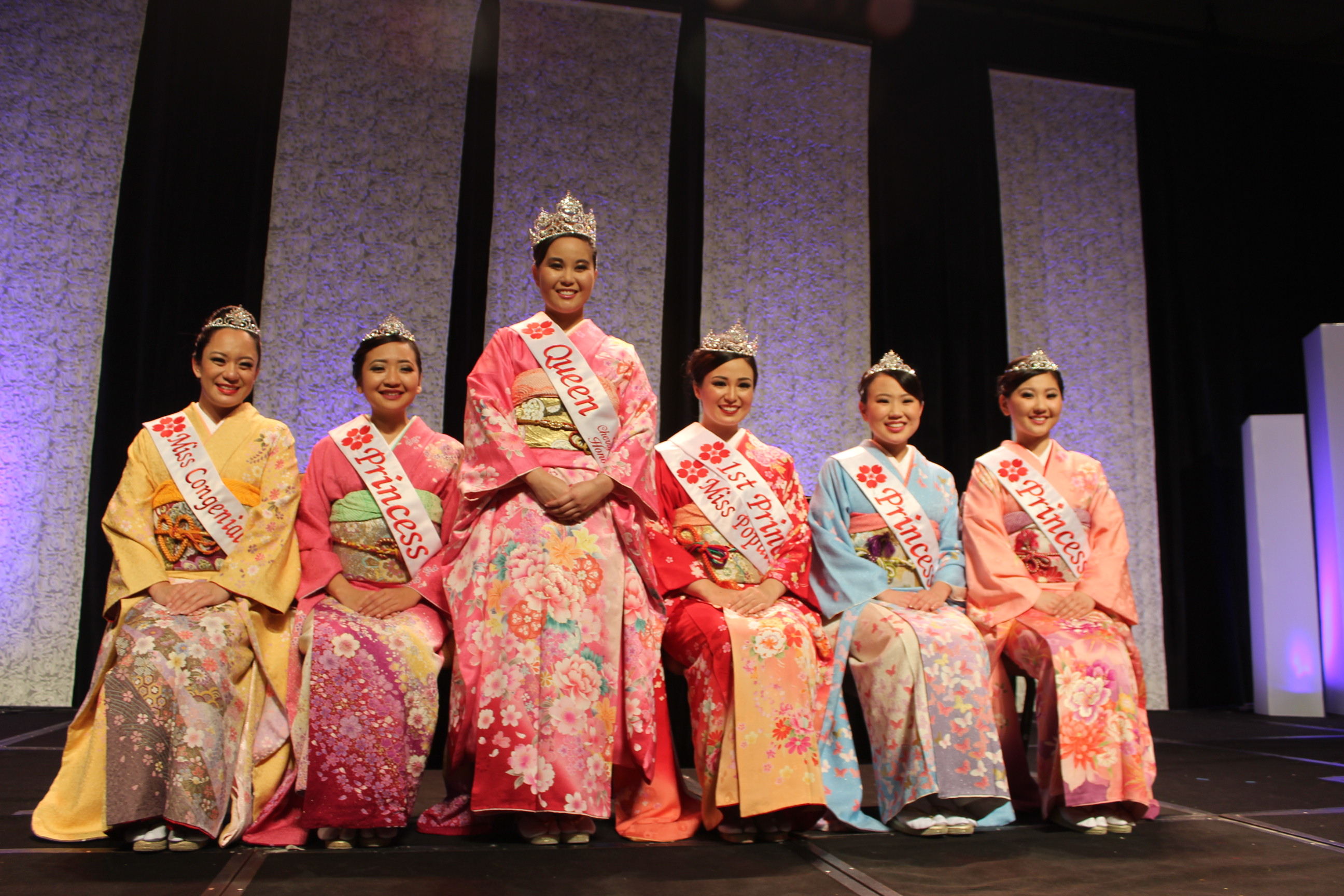 Group photo of the 65th Cherry Blossom Festival Court