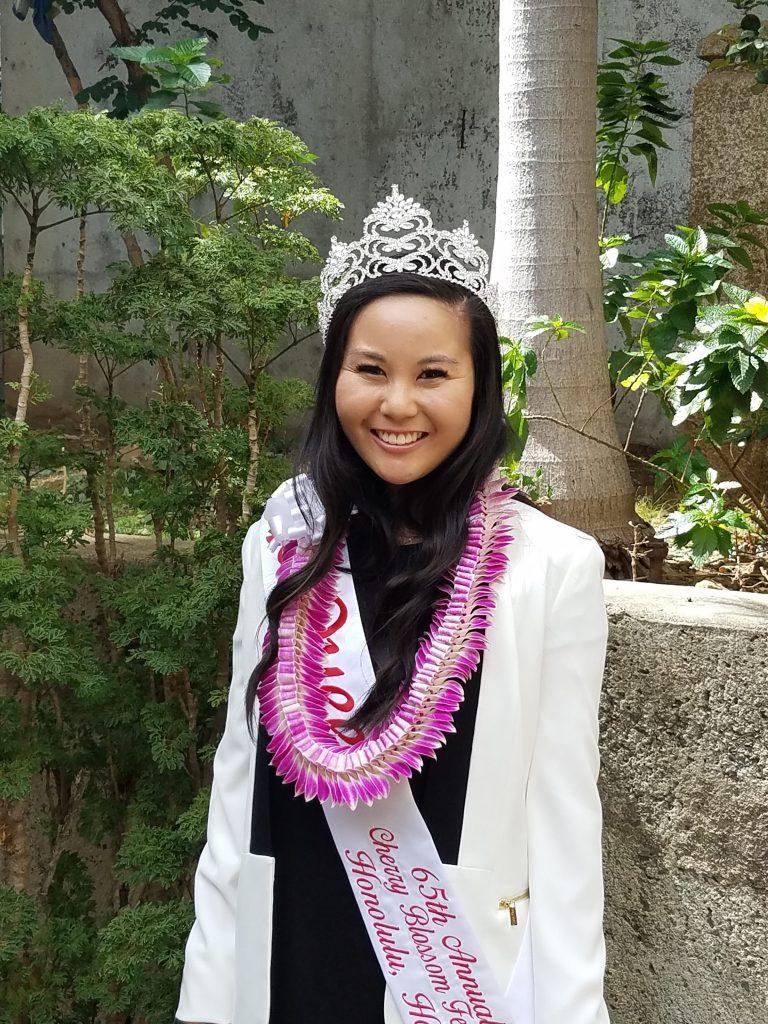 Photo of the 65th Cherry Blossom Festival Queen Heather Omori.