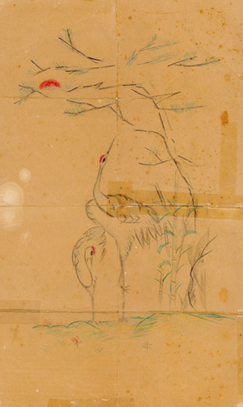 Fumie Oshiro kept this pencil drawing from an Okinawan POW all her life.