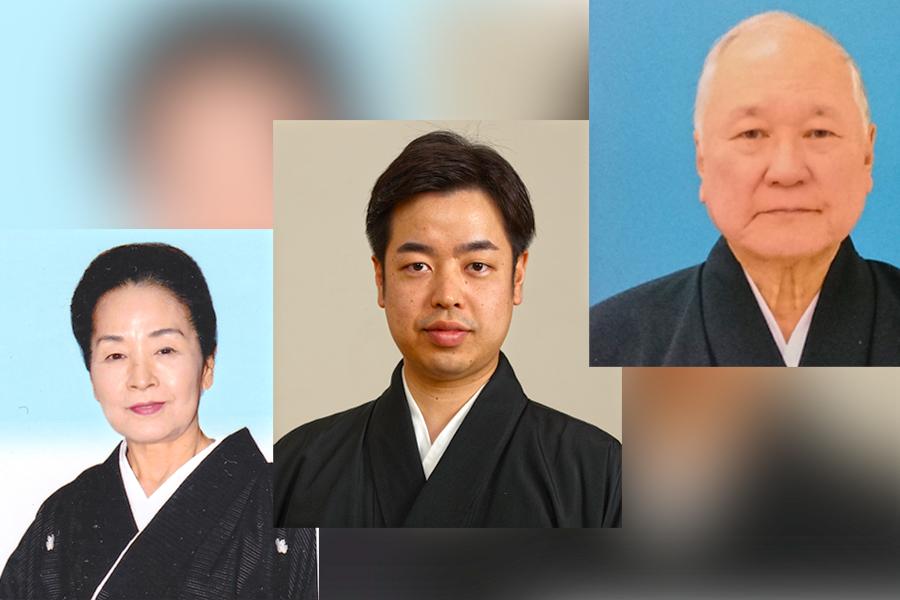 Photo of Okinawa Performing Artists - Yamada Kazuko, Nakandakari Tetsuya, Hanashiro Sekichi