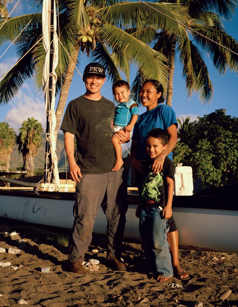 Photo of Kalä Baybayan Tanaka with her husband Daniel and their two sons Kalae'ula (age 5) and Tekauri (age 2). (Photo courtesy Tanaka family)