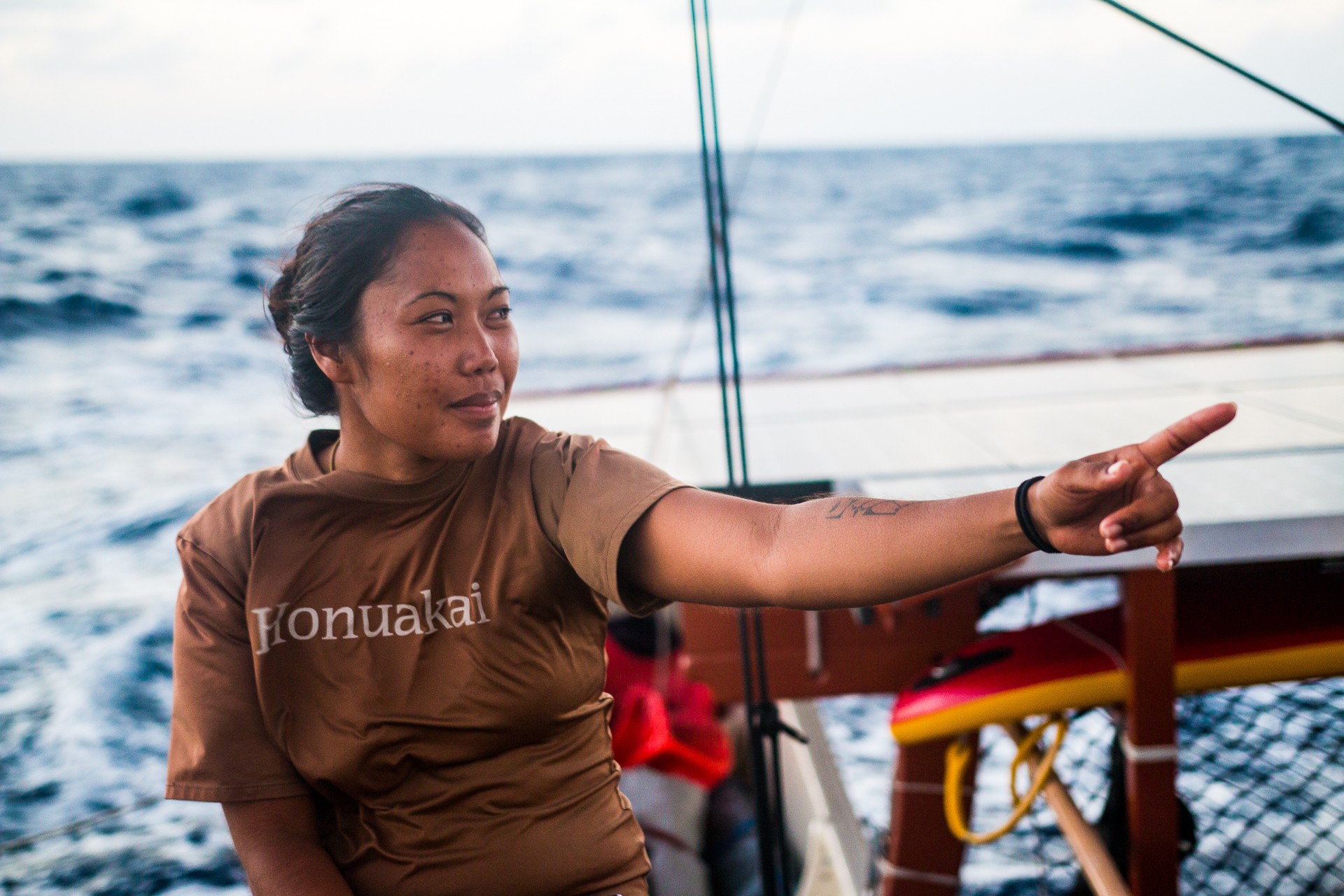Photo of Kalä Baybayan Tanaka, leading her crew
