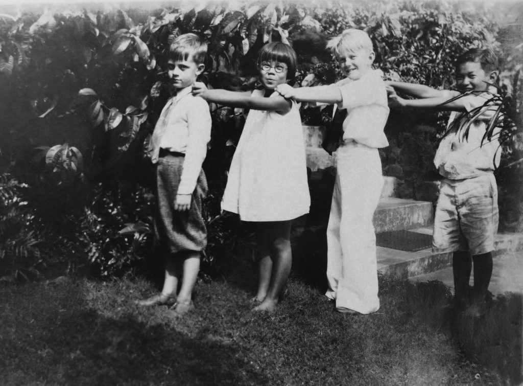 """Siblings Ted and Martha Tsukiyama with their Kaimukï neighbors in 1926. From left: Bobby Metcalf, Martha Tsukiyama, Donald Napier and Ted Tsukiyama. (Photos from """"My Life's Journey"""")Siblings Ted and Martha Tsukiyama with their Kaimukï neighbors in 1926. From left: Bobby Metcalf, Martha Tsukiyama, Donald Napier and Ted Tsukiyama. (Photos from """"My Life's Journey"""")"""