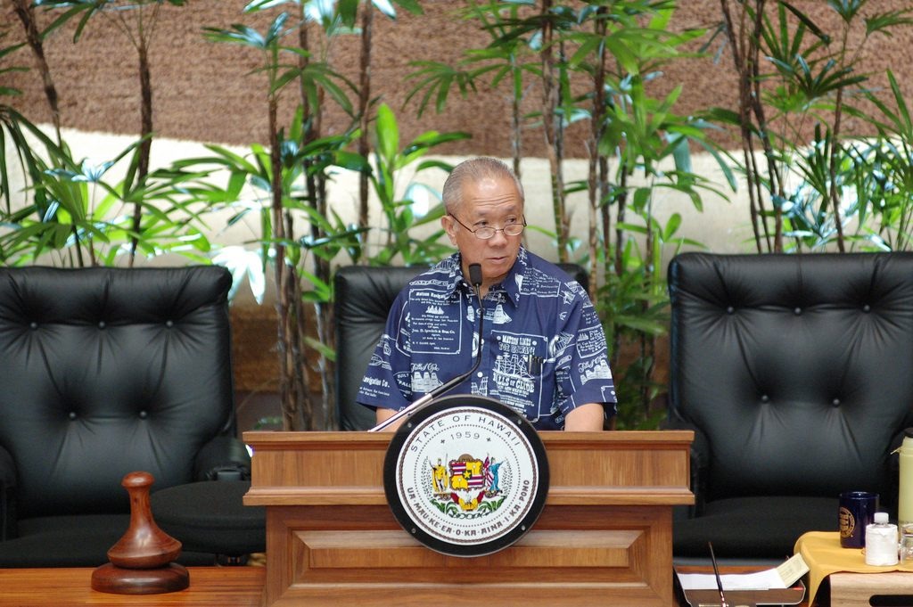 """Former Speaker Calvin Say advises Saiki to not get bogged down in details and to """"keep his eyes open to the big picture."""" (Photo courtesy Calvin Say)"""