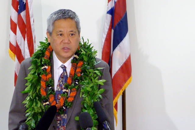 Rep. Scott Saiki this past May following the announcement that he would replace Maui Rep. Joe Souki as Speaker of the House. (Photo courtesy: Honolulu Star-Advertiser)