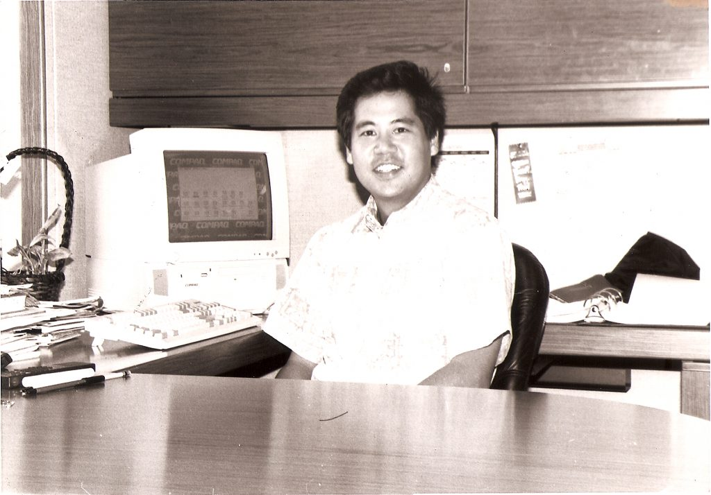 """Rep. Scott Saiki in 1995 — his freshman year as a state representative. """"I've always thought that you have to vote your conscience. I think if you do that, ultimately, people will respect you for that,"""" he told the Herald in an April 1995 interview. (Hawai'i Herald archives)"""