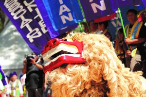 Photo of Lion Dance at the Okinawan Festival