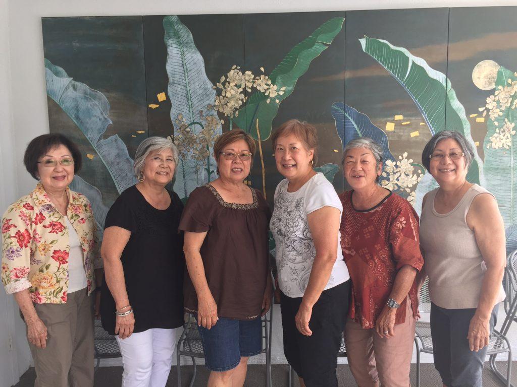 These Hui O Laulima members have worked on various projects together. From left: Gerri Maeda, Thelma Arakawa, Ellen Higa, Barbara Kuba, Wendy Yoshimoto and Valerie Teruya.