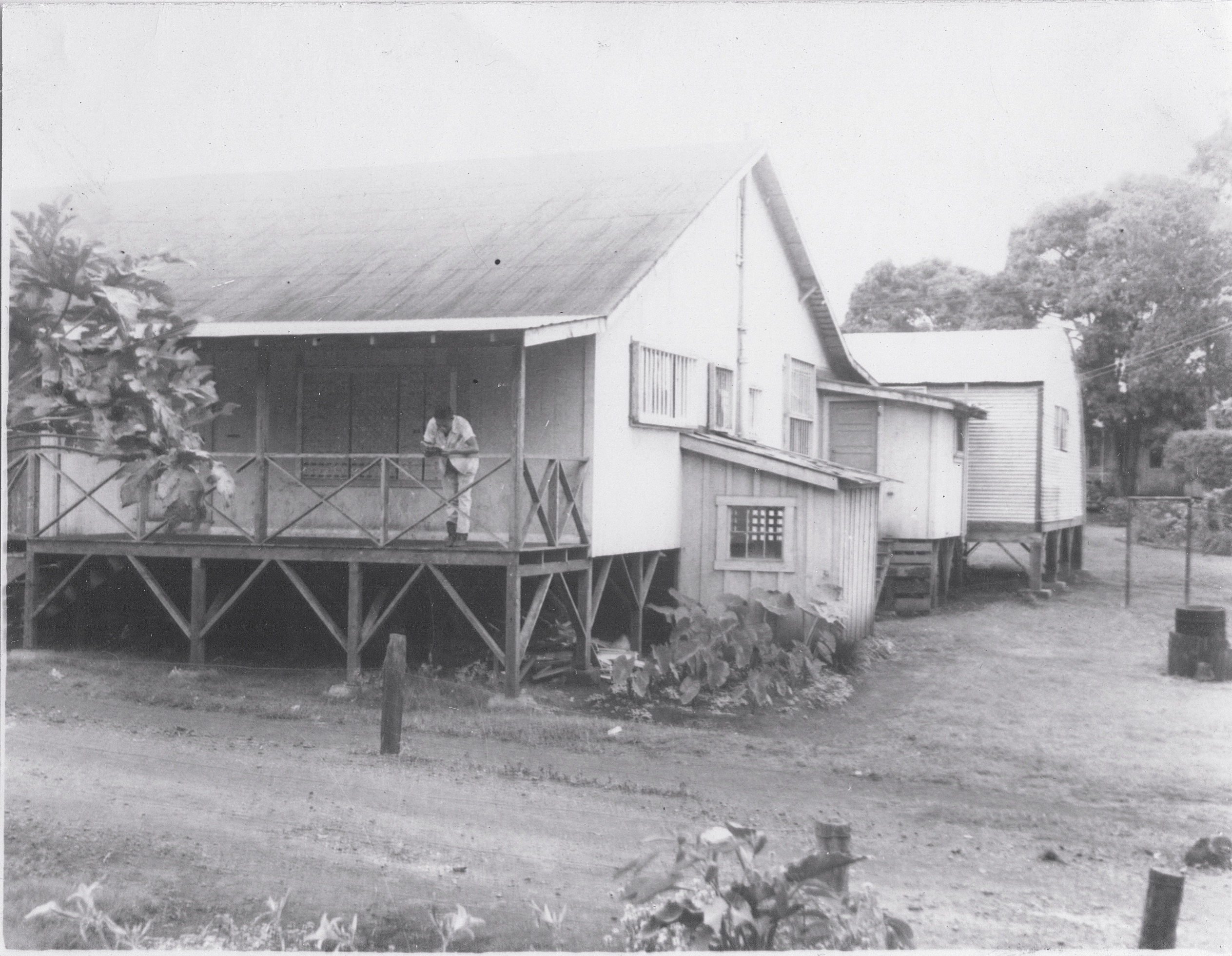 The back of the old Kunia Camp store, pre-World War II. The Sekiya family lived nearby. (Camp photos courtesy of Ray Sekiya)