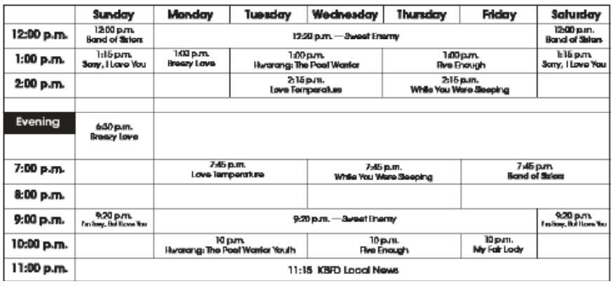TV Program Guide for Oct. 20 Issue