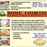 Ad for Waipouli Deli & Restaurant
