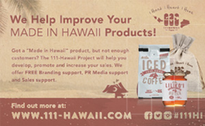Ad for 111-Hawaii.com, made in Hawaii Products