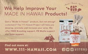 Ad for 111-Hawaii.com, made in Hawaii Products