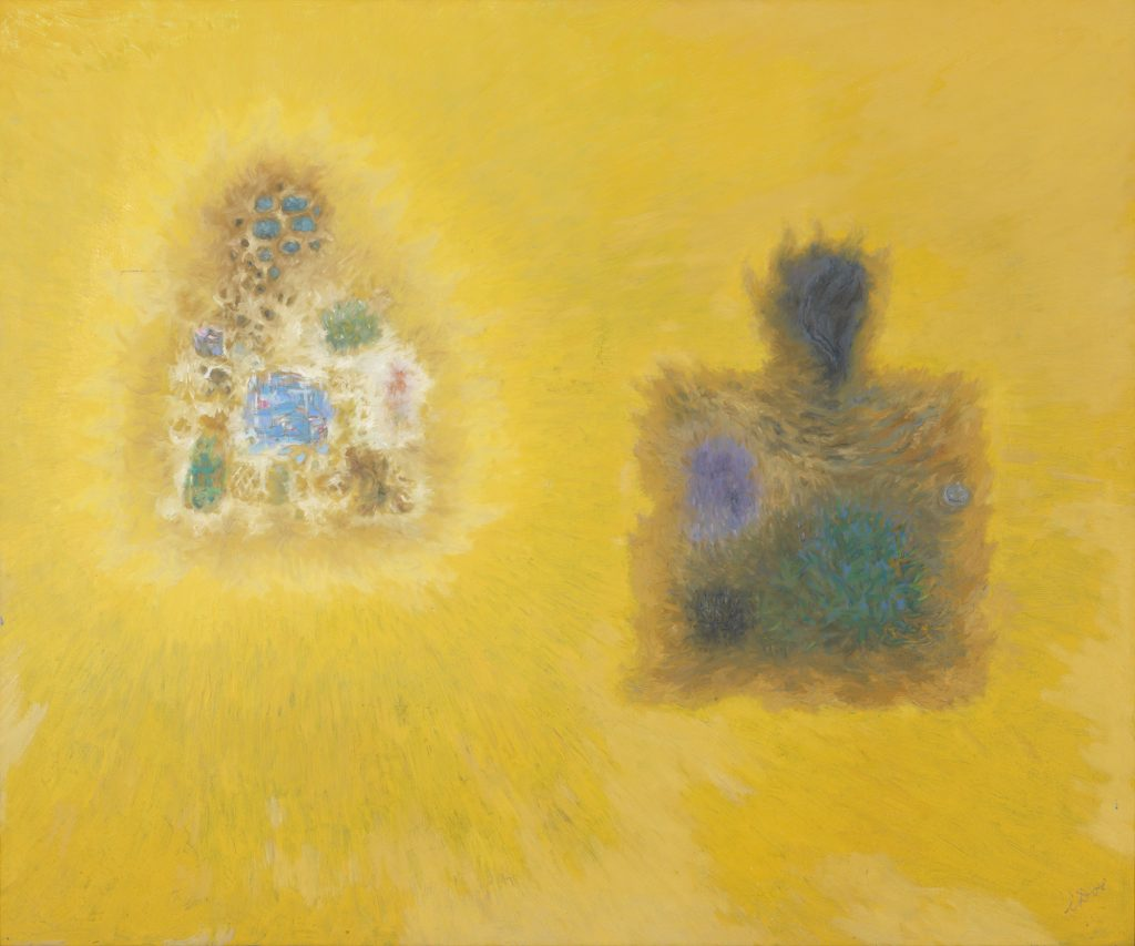 """""""My Mystic Pilgrimage,"""" an oil on canvas work by Hawai'i artist Isami Doi (1903–1965). Collection of Nancy and Herb Conley. © Estate of Isami Doi."""