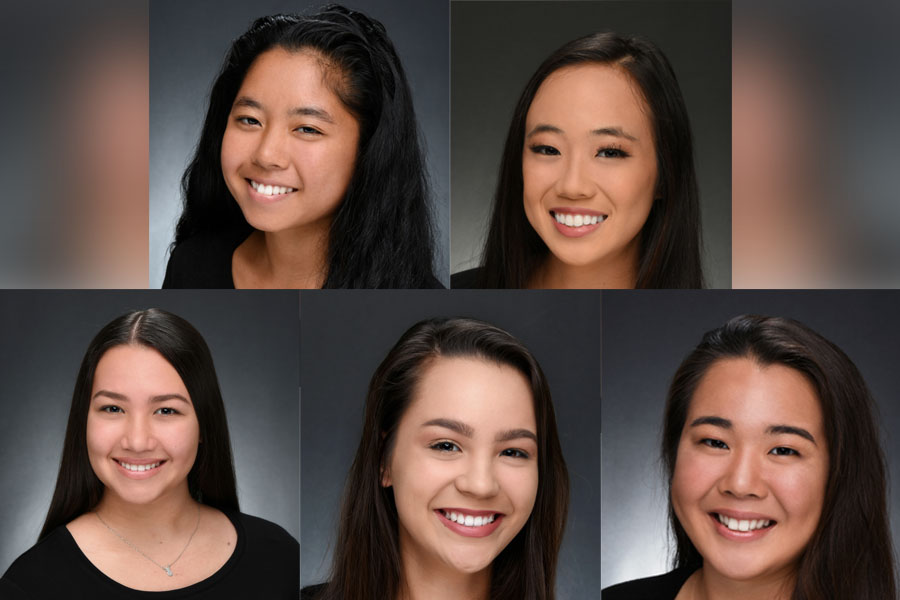 Chrysanthemum Festival Contestants: (starting from top left) Sokah Furumoto, Kristi Echiverri, Makaylen Tadeo, Jaelynn Nobriga, and Paige Maki Nagahama