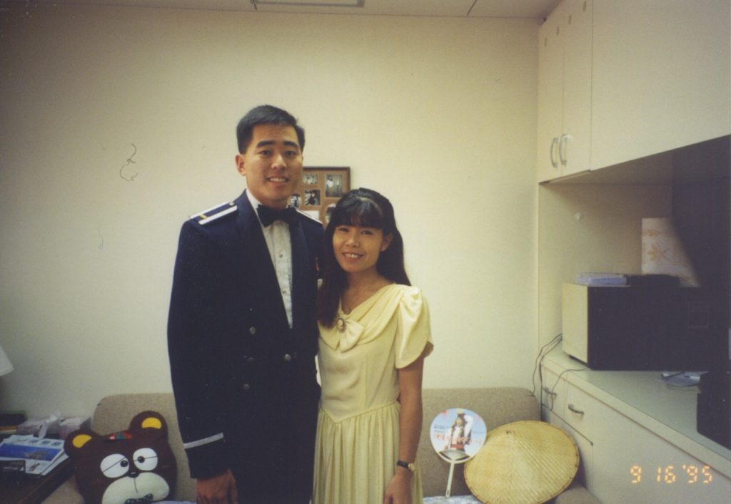 Photo of Keiko and Colin back in 1995 attending the Air Force Ball