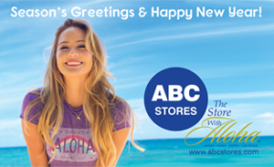 Ad wishing Happy New Year on behalf of ABC Stores