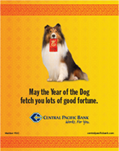 Ad wishing Happy New Year on behalf of Central Pacific Bank