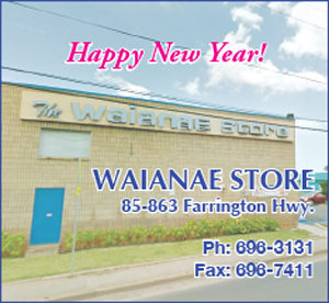 Ad for Waianae Store, wishing a Happy New Year