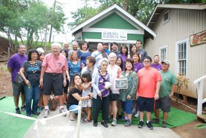 Descendants of Kama and Yukichi Shiroma, founders of the Shiroma Saimin Stand that once served bowls of hot saimin from Oahu Sugar Plantation's Higashi Camp in Waipahu, attended a rededication of the outdoor saimin stand exhibit at Hawaii's Plantation Village.