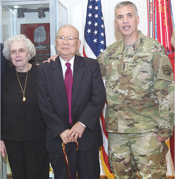 Lt. Gen. Paul Nakasone with his parents in 2016.
