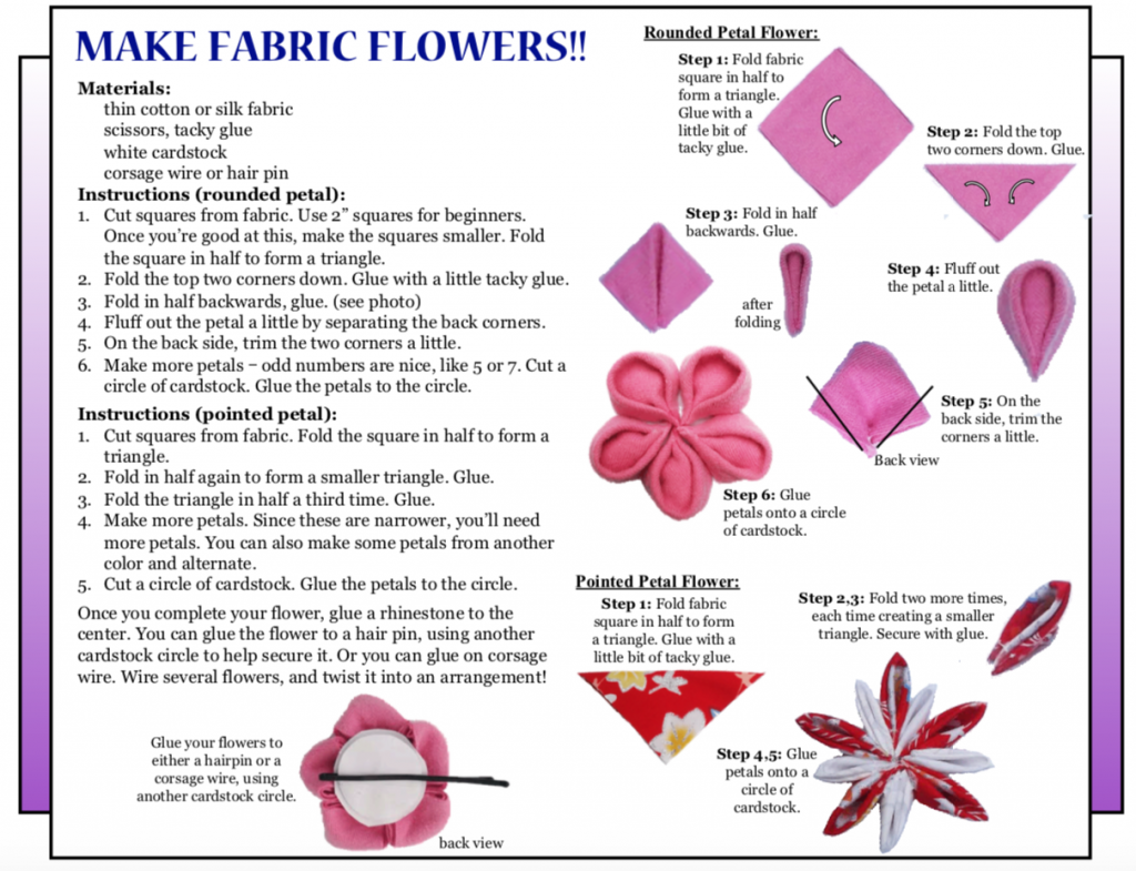 "Culture4Kids! Hanamatsuri 2018 ""Make Fabric Flowers"""