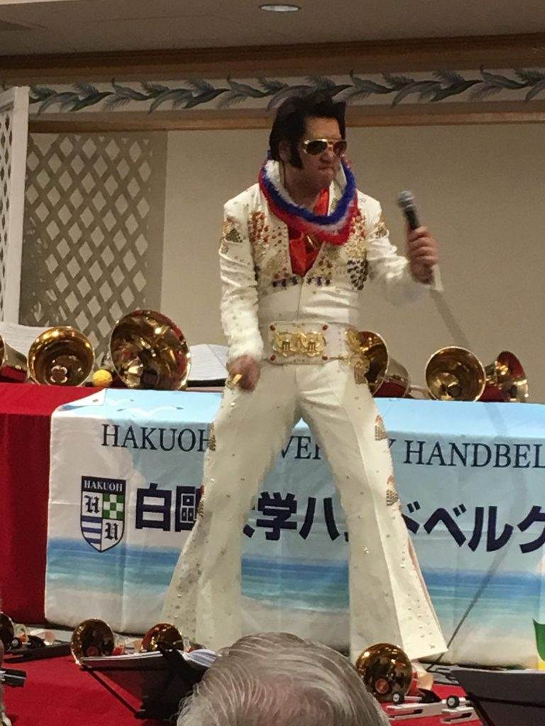 "Japan's ""Elvis Presley"" Toki Toyokazu was a surprise addition to this year's Hakuoh program."