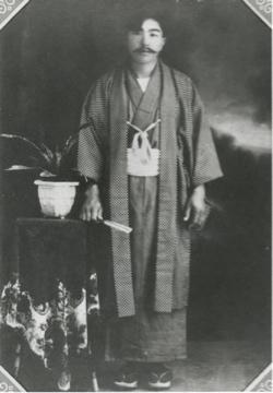 Photo of Haruno Tazawa's future husband, Chozo Tazawa, sent to her. (Barbara F. Kawakami Collection)