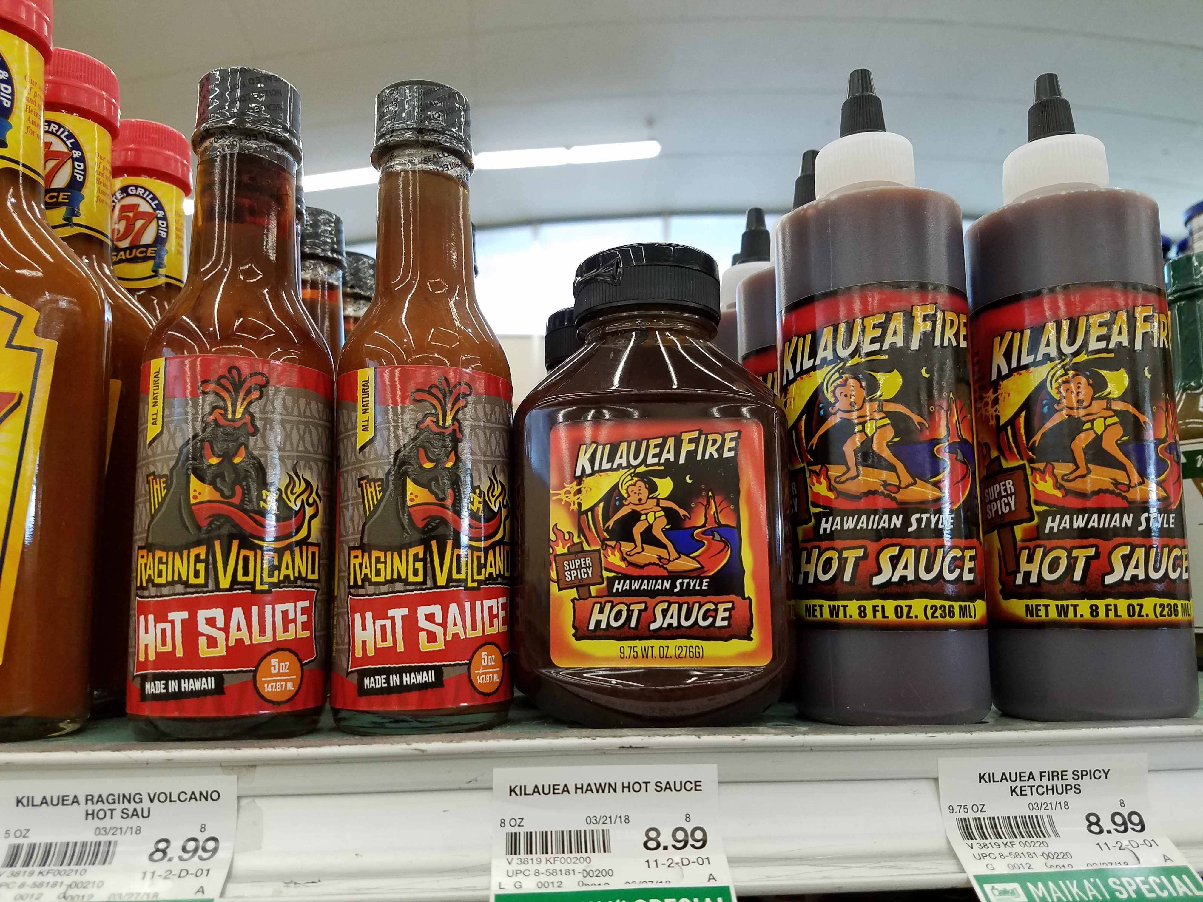 Local hot sauces. (Photos by Ryan Tatsumoto)
