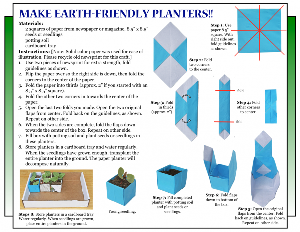 "Culture4Kids! ""Make Earth-Friendly Planters!!"""