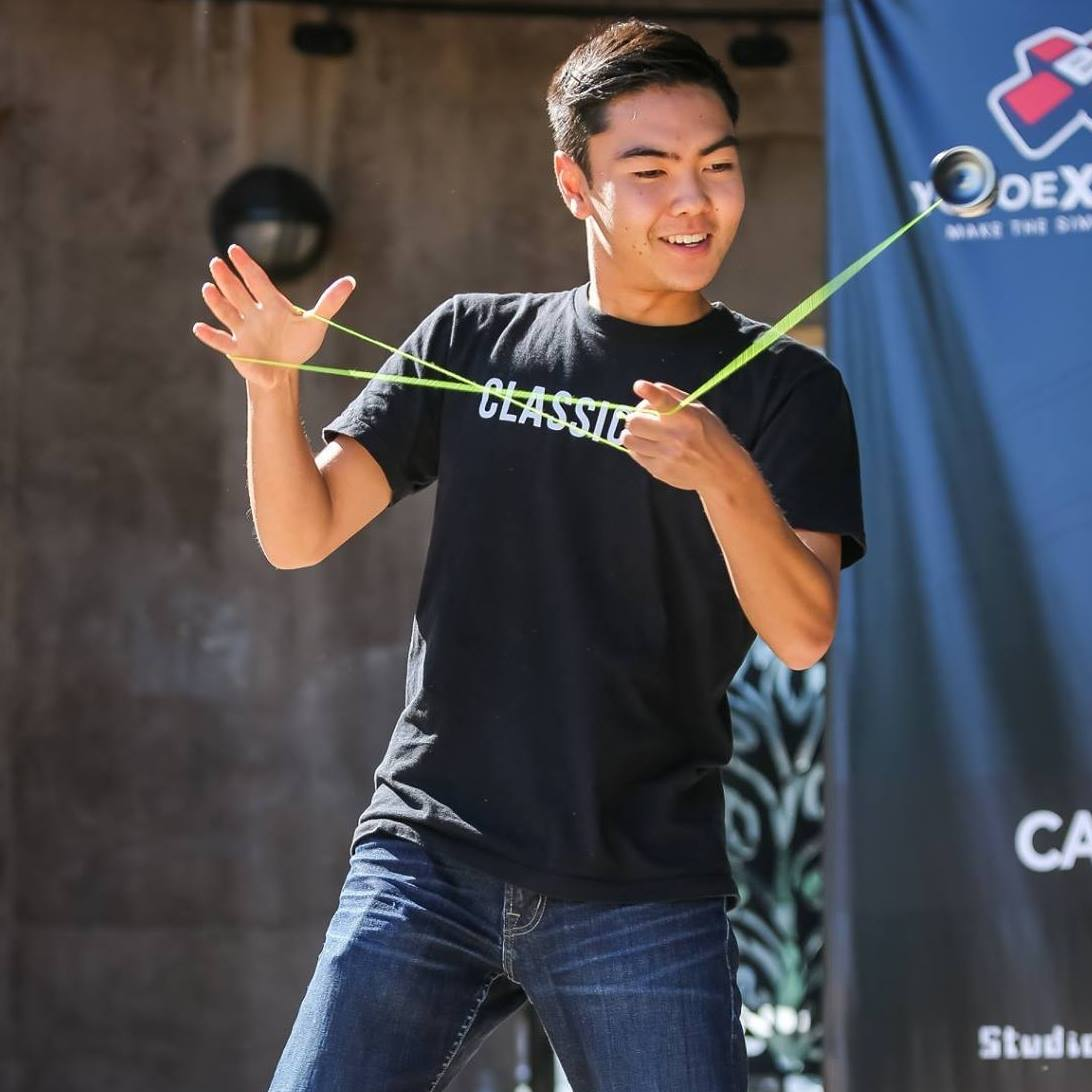 Evan Nagao demonstrates his yo-yo mastery. (Photo courtesy JCAH)