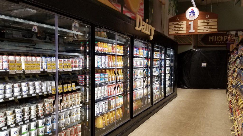 Dairy aisle for new KTA Express recently opened in Kealakekua Big Island