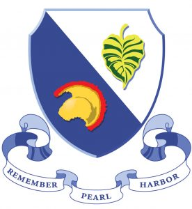 Graphic of bade with 'Remember Pearl Harbor'