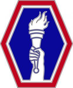 Logo Holding the torch for the Nisei Veterans