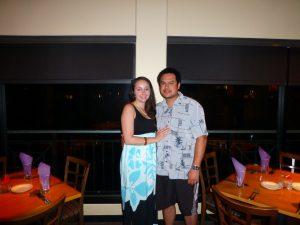 Kevin and Sara Kamibayashi celebrating their anniversary.