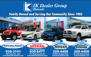 Ad for Kama'aina Motors Dealer Group