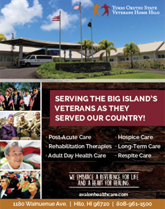 Ad for Yukio Okutsu State Veterans Hilo Hawaii, 'Serving the Big Islands Veterans as they server our country!'